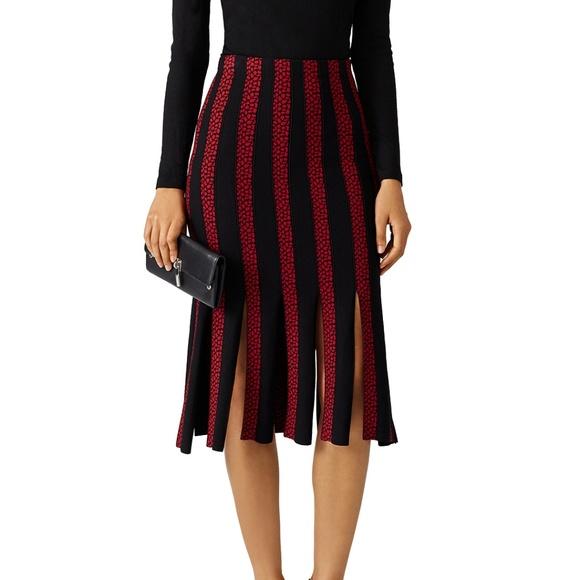 2f8445e74 cinq à sept Dresses & Skirts - NWOT cinq a sept Carnival Red Black Pleat  Skirt
